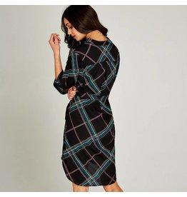 APRICOT GEO PRINT TUNIC DRESS