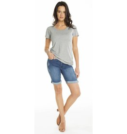 CARRELI STONE WASH DENIM BOYFRIEND SHORT