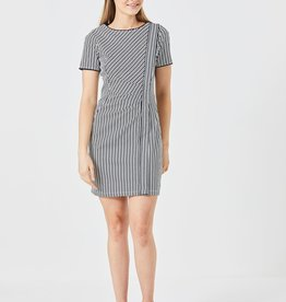 EVIE NAVY STRIPED DRESS