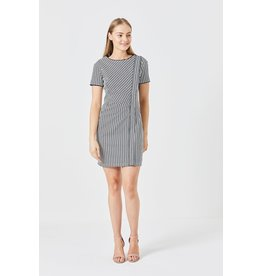 ANGEL EYE EVIE NAVY STRIPED DRESS