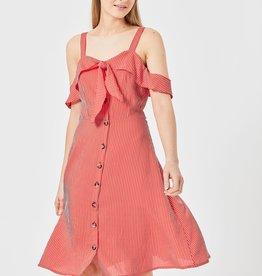 CASSIE RED STRIPED DRESS