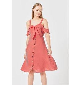 ANGEL EYE CASSIE RED STRIPED DRESS