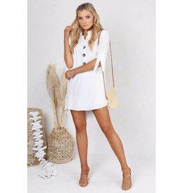 IZZIE WHITE SHIRT DRESS