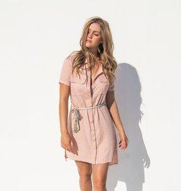 BINDI SALMON SHIRT DRESS