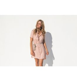 LOST IN LUNAR BINDI SALMON SHIRT DRESS