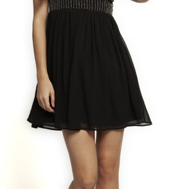 DEX SWEETHEART NECKLINE A-LINE DRESS