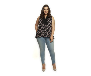 Plus slvless lace applique top jacq y jaye s boutique espresso bar