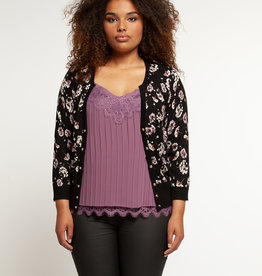 DEX PLUS L/SLV BUTTON FRONT CARDIGAN