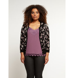 PLUS L/SLV BUTTON FRONT CARDIGAN