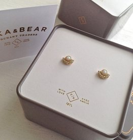 PIKA & BEAR LASA OPAL/RHINESTONE STUD EARRINGS