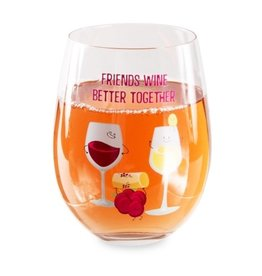 LATE NIGHT LAST CALL STEMLESS WINE GLASS