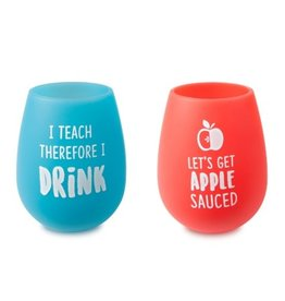 APPLE SAUCED SILICONE WINE SET