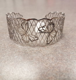 STERLING SILVER BUTTERFLY CUFF BANGLE