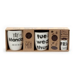 3 PCE MUG SET DAYS WEEK