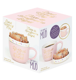 OUR NAME IS MUD DONUT WARMER MUG