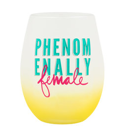 PHENOMENALLY FEMALE WINE GLASS