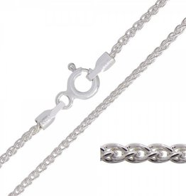 STERLING SILVER WHEAT CHAIN-24""