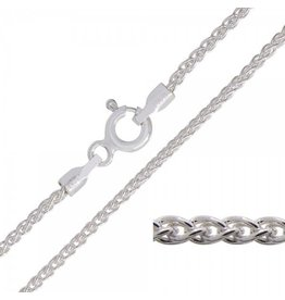 BIJOUX STERLING SILVER WHEAT CHAIN-24""