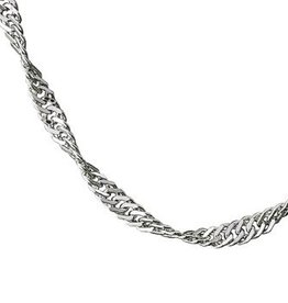 STERLING SILVER SINGAPORE CHAIN - 16""