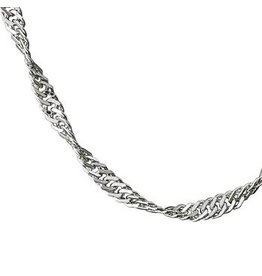 """STERLING SILVER SINGAPORE CHAIN - 16"""""""