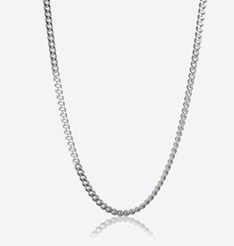 STERLING SILVER CURB CHAIN - 24""