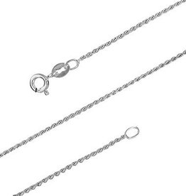STERLING SILVER ROPE CHAIN - 18""