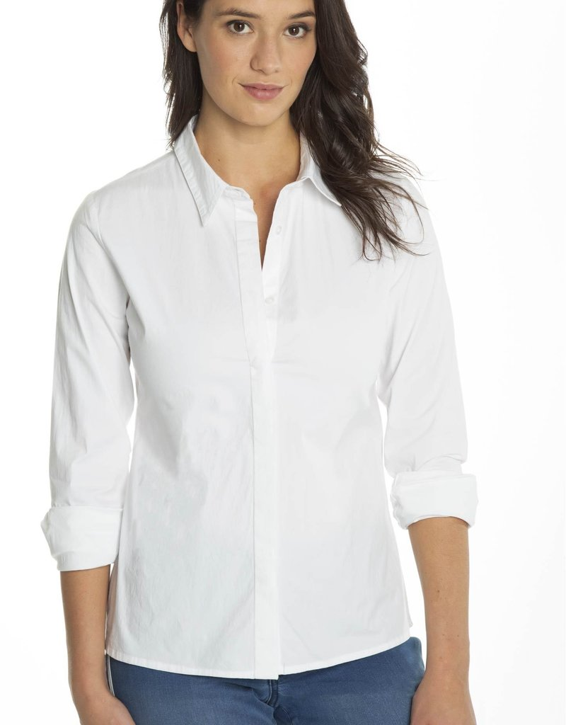 CARRELI WHITE BUTTON FRONT BLOUSE