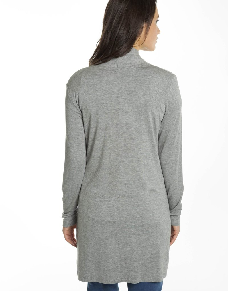 CARRELI L/S DRAPED COLLAR CARDIGAN