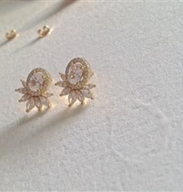 WINDSOR VERMEIL/RHINESTONE EARRINGS