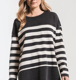 Z SUPPLY MODERN STRIPE CREW NECK TOP