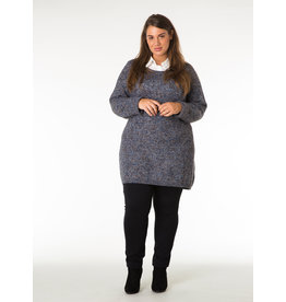 LONG TUNIC CREW NECK SWEATER