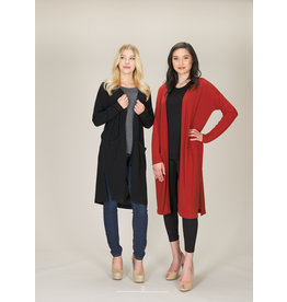 PAPILLON LONG SNGL BUTTON CARDIGAN
