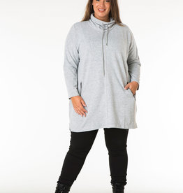 COWL NECK TUNIC w/ZIPPER POCKETS