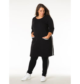 YESTA FRONT POCKETED ROLL UP SLV DRESS