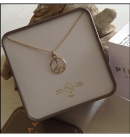 PIKA & BEAR ONE LOVE VERMEIL GOLD FILLED NECKLACE