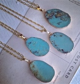 PIKA & BEAR MALDIVES CHRYSOPRASE BRASS NECKLACE