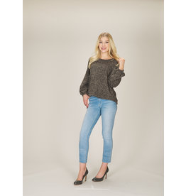 PAPILLON TEXTURED KNIT CROP SWEATER