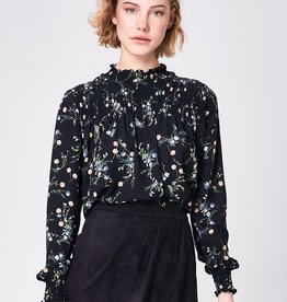 ANGEL EYE LORI BLACK FLORAL L/S TOP