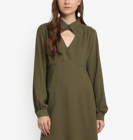 ANGEL EYE SHERI KHAKI DRESS