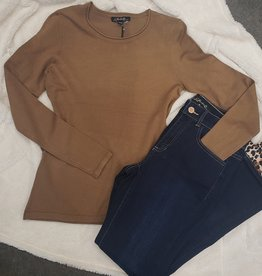 CHARLIE B CREW NECK LONG SLV SWEATER