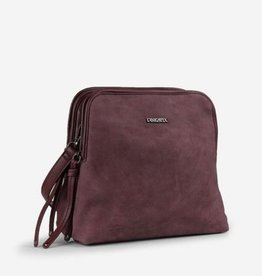 PINKSTIX DBL COMPARTMENT NUBUCK SHOULDER BAG