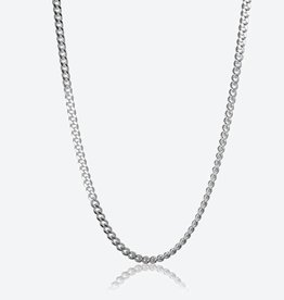 STERLING SILVER CURB CHAIN - 26""