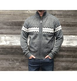 POINT ZERO ZIP FRONT CARDIGAN SWEATER