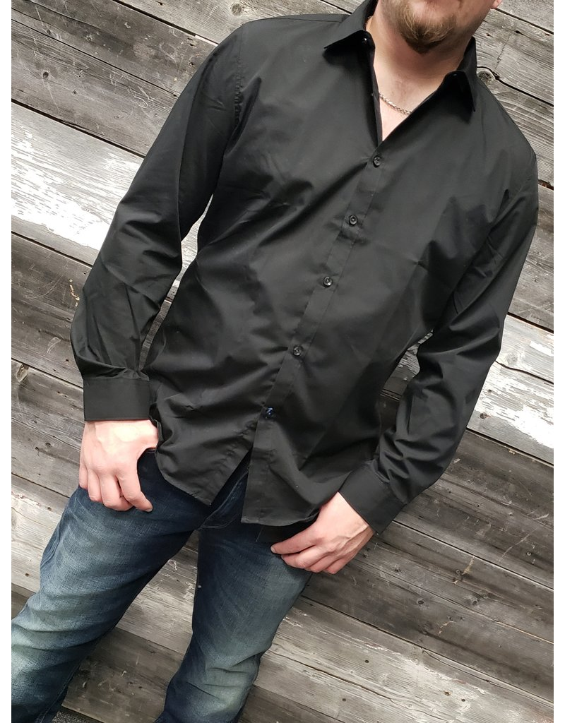 POINT ZERO SOLID LUXURY DRESS SHIRT