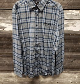 POINT ZERO MEN'S BRUSH FLANNEL CHECK SHIRT