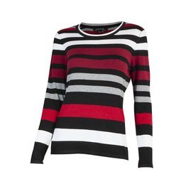 CHARLIE B STRIPED KNIT SWEATER