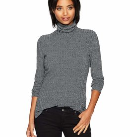 TRIBAL L/SLV TURTLE NECK w/SLITS