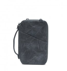 S-Q ATHENA DARK GREY PASSPORT POUCH