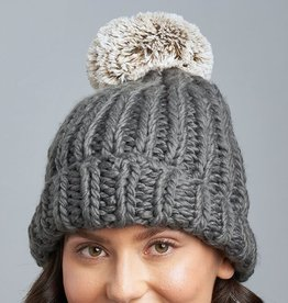 LEMON WINTER CABIN POM POM TOQUE-BLACKNESS
