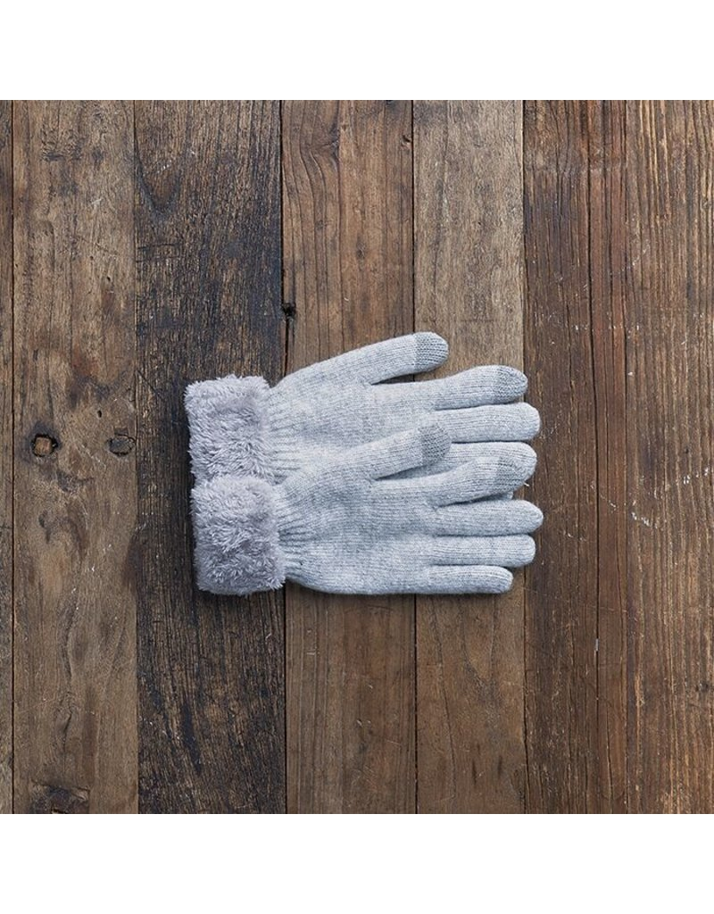 LEMON WOOLIE TECH GLOVES - OXFORD